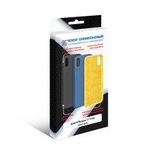 Силиконовый чехол Soft-touch с микрофиброй DF для Apple iPhone 11 Pro Желтый