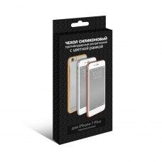 Силиконовый супертонкий чехол с цветной рамкой DF для Apple iPhone 7 Plus Черный