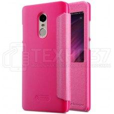 Чехол книжка Nillkin Sparkle Leather Case для Xiaomi Redmi Note 4X Pink