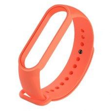 Браслет-ремешок силиконовый для Xiaomi Mi Band 5 Оранжевый