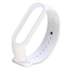 Браслет-ремешок силиконовый для Xiaomi Mi Band 5 Белый