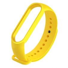 Браслет-ремешок силиконовый для Xiaomi Mi Band 5 Желтый