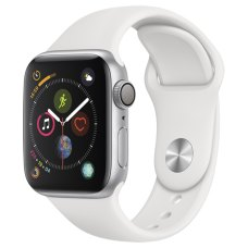 Умные часы Apple Watch S4 Sport 40mm Silver Aluminum Case with White Sport Band
