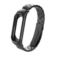 Металлический ремешок для Xiaomi Mi Band 4 Черный