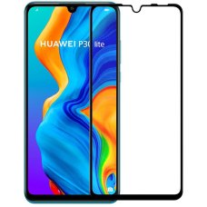 Защитное стекло 5D для Huawei P30 lite Black
