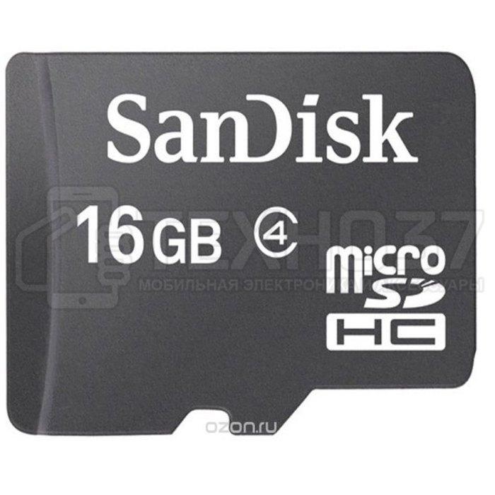 Карта памяти MICRO SDHC 16GB W/ADAPT CL4 SDSDQM-016G-B35A SANDISK
